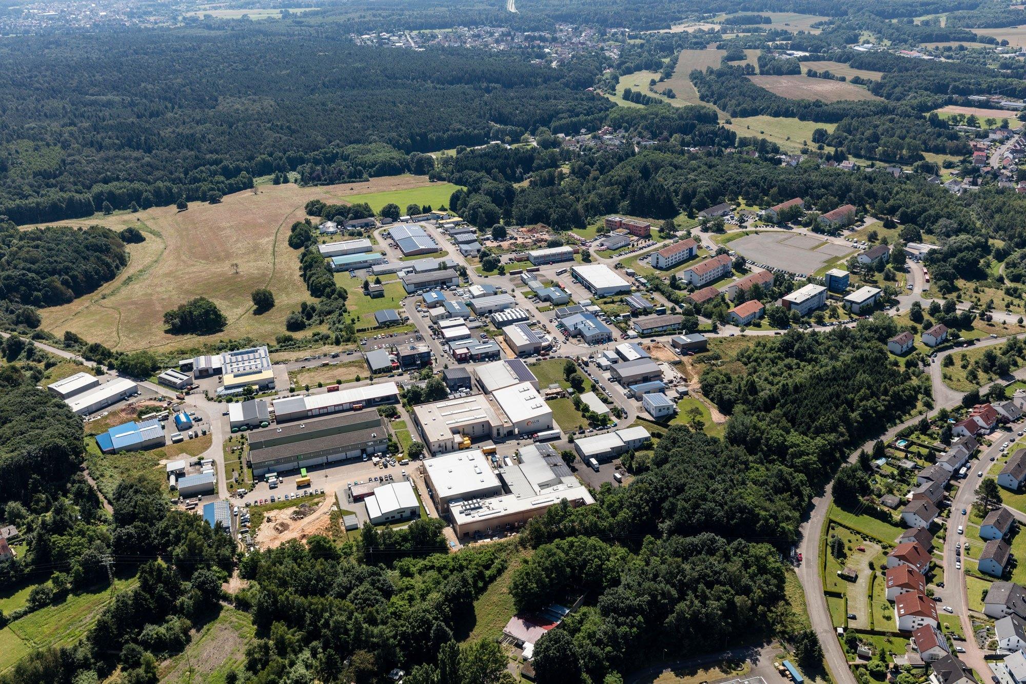 Luftaufnahme des Saarpfalz Parks in Bexbach