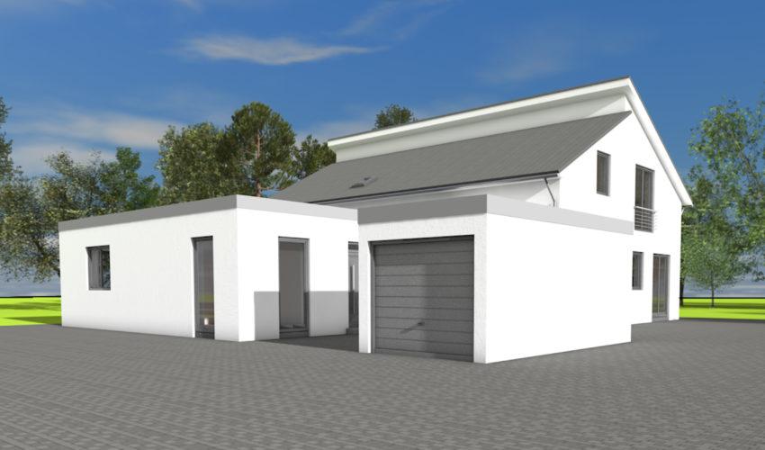 Neubau Einfamilienwohnhaus mit Einliegerwohnung