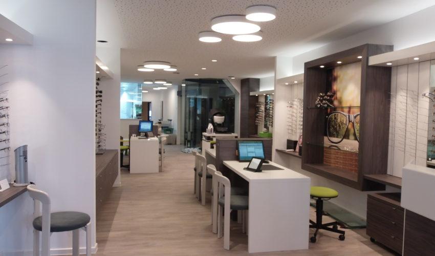Renovierung Geschäftsräume Optik Schuck